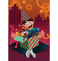 birthday celebration vector image vector image