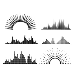Black musicwaves forms vector