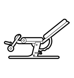 Black silhouette gym machine for exercises vector