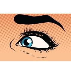blue woman eye close-up vector image
