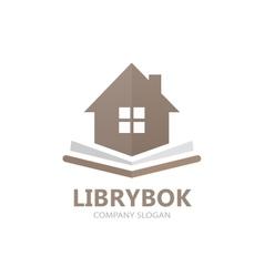 Book and house logo concept vector