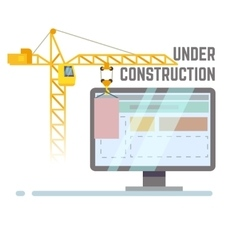 Building under construction web site vector