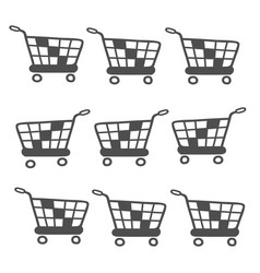 Business icon of grocery trolley vector