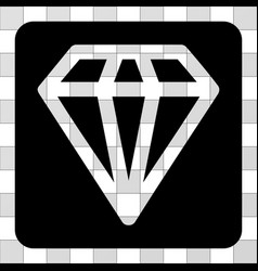 Diamond rounded square vector