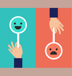 feedback concept design with two emoticons signs vector image vector image