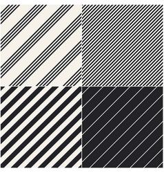 four diagonal patterns collection diagonal lines vector image vector image