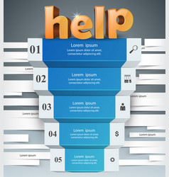 Infographics up the ladder to success help stair vector