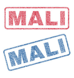 Mali textile stamps vector