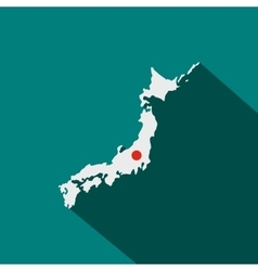 Map of japan icon flat style vector