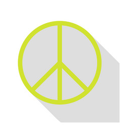 Peace sign pear icon with flat style vector