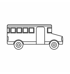 School bus icon outline style vector image vector image