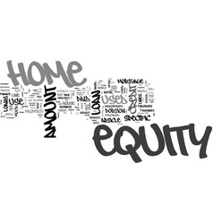 what equity is and how to use it text word cloud vector image