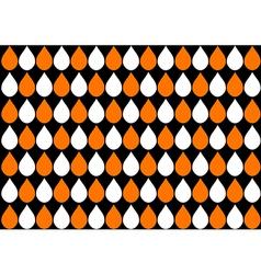 White Orange Water Drops Black Background vector image vector image