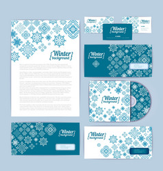 Winter holiday corporate identity vector image vector image