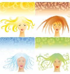 women's hairstyles vector image vector image