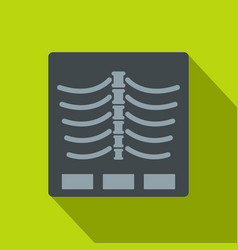 x ray photo icon flat style vector image