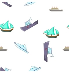 Yachts and maritime transport pattern vector
