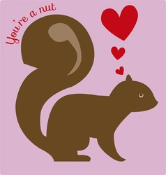 Youre A Nut vector image