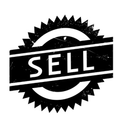 Sell stamp rubber grunge vector