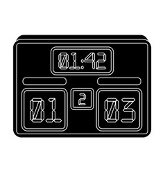 board with a score of footballfans single icon in vector image