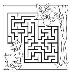 Labyrinth maze for kids entry and exit children vector