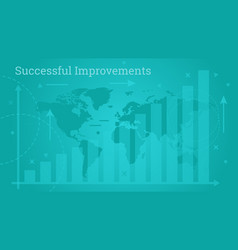 business banner - successful improvements vector image