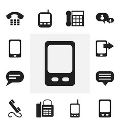 Set of 12 editable phone icons includes symbols vector