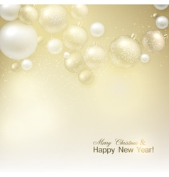 Elegant shiny Christmas background with golden vector image