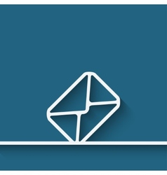 Mail envelope symbol vector