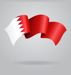 Bahrain waving flag vector