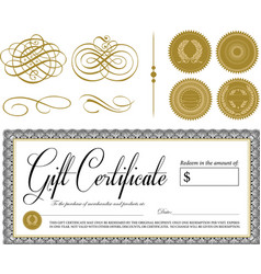 Gift certifcate vector