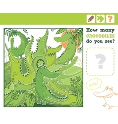 Jungle Education Counting Game for Children vector image