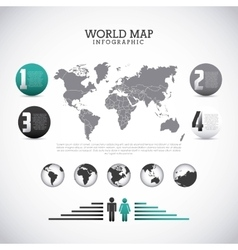 World map design vector