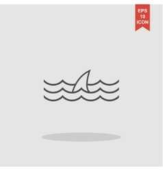 Shark fin icon vector
