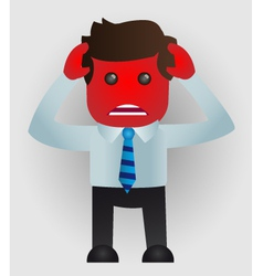 Angry businessman vector image vector image