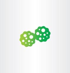Bacteria reproduction icon vector