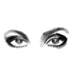beautiful woman eyes vector image vector image