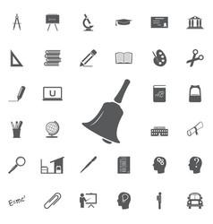 bell icon alarm service bell handbell vector image