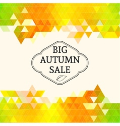 Big autumn sale vector