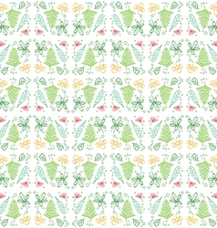 Doodle Leaf Seamless Pattern Background vector image