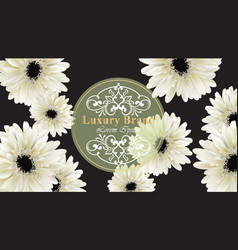 Elegant luxury business card with gerber daisy vector