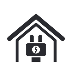 energy home icon vector image vector image