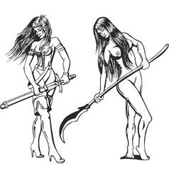 girls amazons vector image