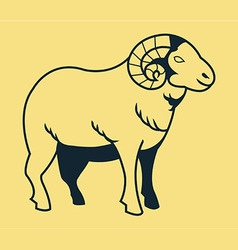 Goat line art vector