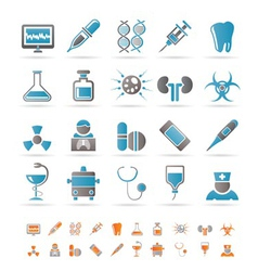 Healthcare and hospital icons vector
