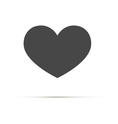 heart icon love symbol a symbol of care vector image