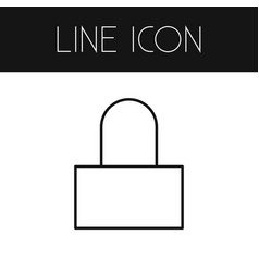 Isolated lock outline padlock element can vector