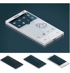 isometric generic smartphone vector image vector image