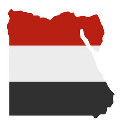 map of egypt in egyptian flag colors icon isolated vector image