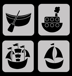 maritime icons vector image